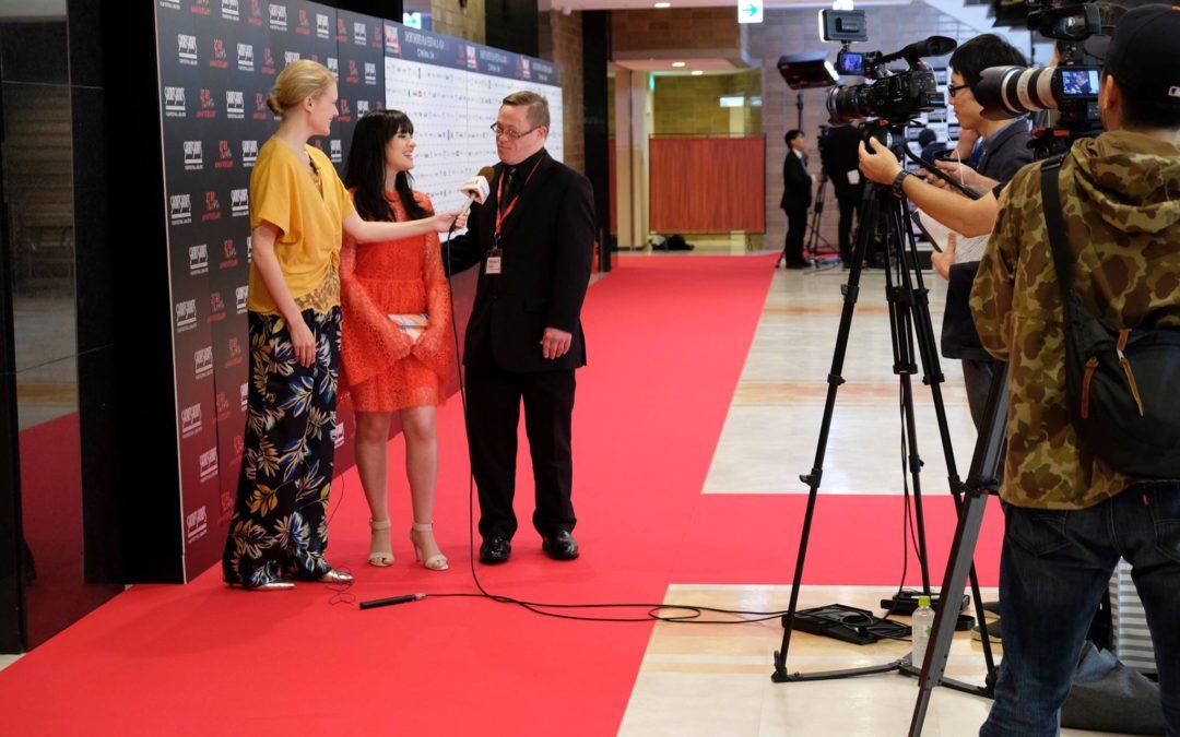 Gerard being interviewed for NHK World – J flicks TV (Japan